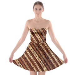 Udan Liris Batik Pattern Strapless Bra Top Dress