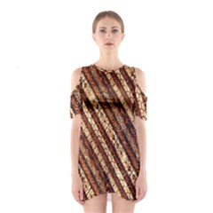 Udan Liris Batik Pattern Shoulder Cutout One Piece