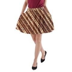 Udan Liris Batik Pattern A Line Pocket Skirt