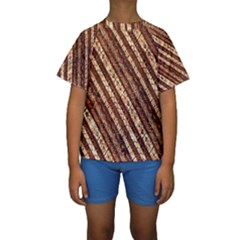 Udan Liris Batik Pattern Kids  Short Sleeve Swimwear