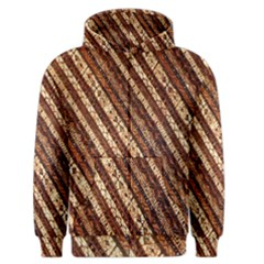 Udan Liris Batik Pattern Men s Zipper Hoodie