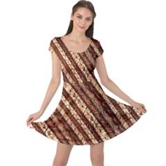 Udan Liris Batik Pattern Cap Sleeve Dresses