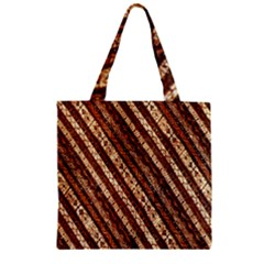 Udan Liris Batik Pattern Zipper Grocery Tote Bag