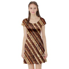 Udan Liris Batik Pattern Short Sleeve Skater Dress
