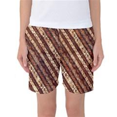 Udan Liris Batik Pattern Women s Basketball Shorts