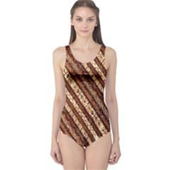 Udan Liris Batik Pattern One Piece Swimsuit