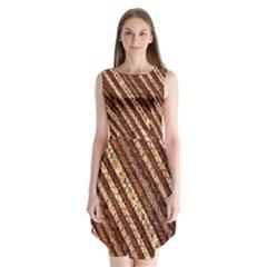 Udan Liris Batik Pattern Sleeveless Chiffon Dress