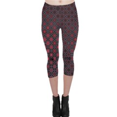 Star Patterns Capri Leggings