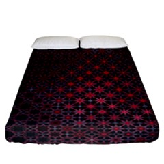 Star Patterns Fitted Sheet (california King Size)