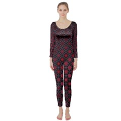 Star Patterns Long Sleeve Catsuit
