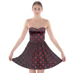 Star Patterns Strapless Bra Top Dress