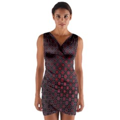 Star Patterns Wrap Front Bodycon Dress