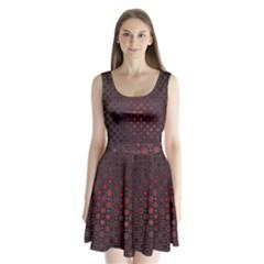 Star Patterns Split Back Mini Dress