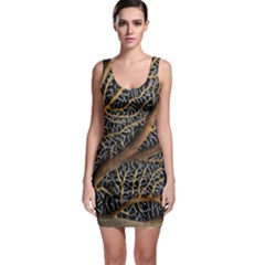 Trees Forests Pattern Sleeveless Bodycon Dress