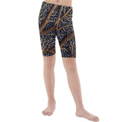 Trees Forests Pattern Kids  Mid Length Swim Shorts
