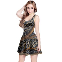 Trees Forests Pattern Reversible Sleeveless Dress