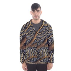 Trees Forests Pattern Hooded Wind Breaker (men)
