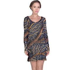 Trees Forests Pattern Long Sleeve Nightdress