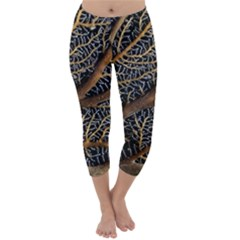 Trees Forests Pattern Capri Winter Leggings