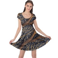 Trees Forests Pattern Cap Sleeve Dresses