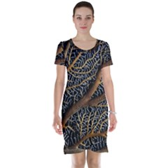 Trees Forests Pattern Short Sleeve Nightdress