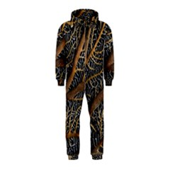 Trees Forests Pattern Hooded Jumpsuit (kids)