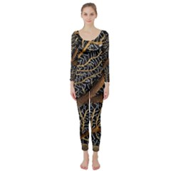 Trees Forests Pattern Long Sleeve Catsuit