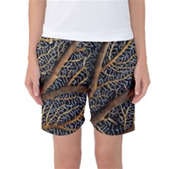 Trees Forests Pattern Women s Basketball Shorts