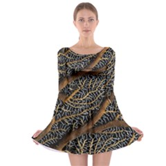 Trees Forests Pattern Long Sleeve Skater Dress