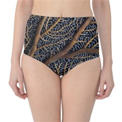 Trees Forests Pattern High Waist Bikini Bottoms