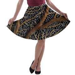 Trees Forests Pattern A Line Skater Skirt