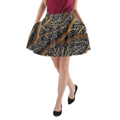 Trees Forests Pattern A Line Pocket Skirt