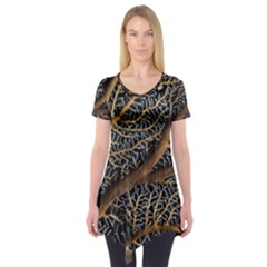 Trees Forests Pattern Short Sleeve Tunic