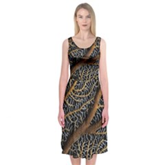 Trees Forests Pattern Midi Sleeveless Dress