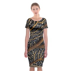 Trees Forests Pattern Classic Short Sleeve Midi Dress