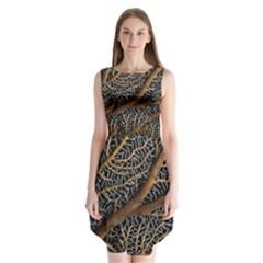 Trees Forests Pattern Sleeveless Chiffon Dress
