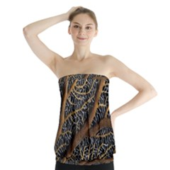 Trees Forests Pattern Strapless Top