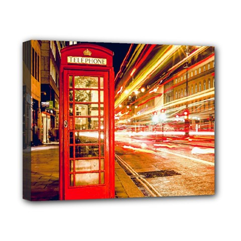 Telephone Box London Night Canvas 10  X 8