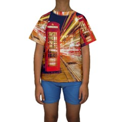 Telephone Box London Night Kids  Short Sleeve Swimwear