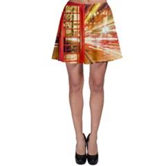 Telephone Box London Night Skater Skirt