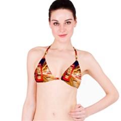 Telephone Box London Night Bikini Top