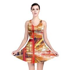 Telephone Box London Night Reversible Skater Dress