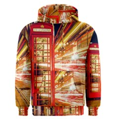 Telephone Box London Night Men s Pullover Hoodie