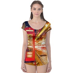 Telephone Box London Night Boyleg Leotard