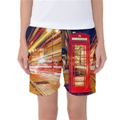 Telephone Box London Night Women s Basketball Shorts