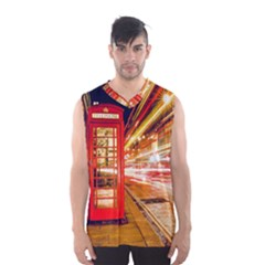 Telephone Box London Night Men s Basketball Tank Top