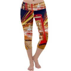 Telephone Box London Night Capri Yoga Leggings