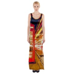 Telephone Box London Night Maxi Thigh Split Dress