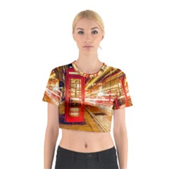 Telephone Box London Night Cotton Crop Top