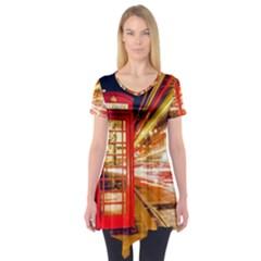 Telephone Box London Night Short Sleeve Tunic